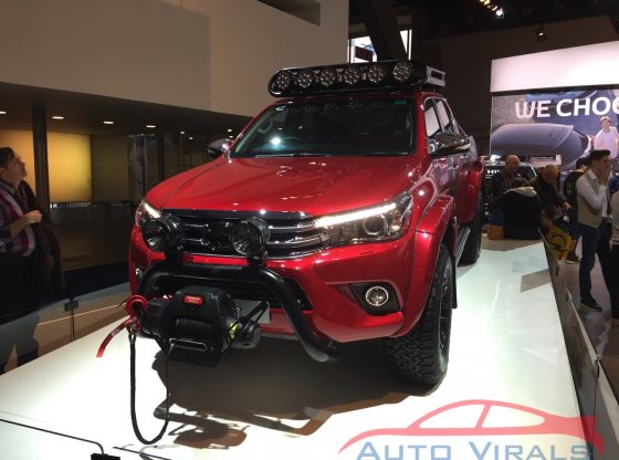 autosalon brussel toyota hilux at35 arctic trucks