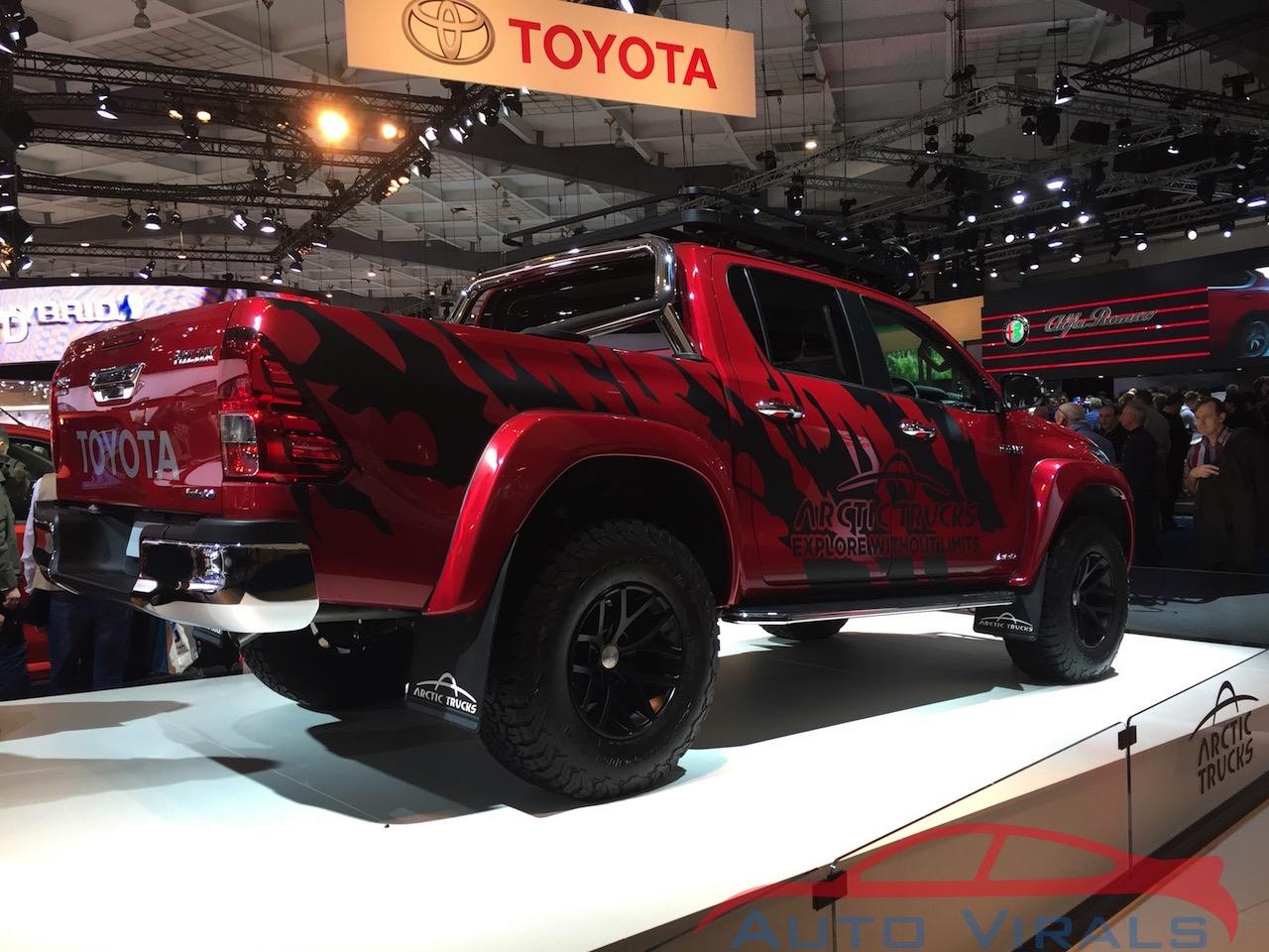 autosalon brussel toyota hilux at35 arctic trucks